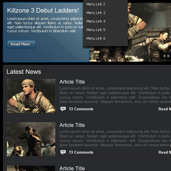 Headquarters - Premium Tactical vBulletin 4 Gaming Style