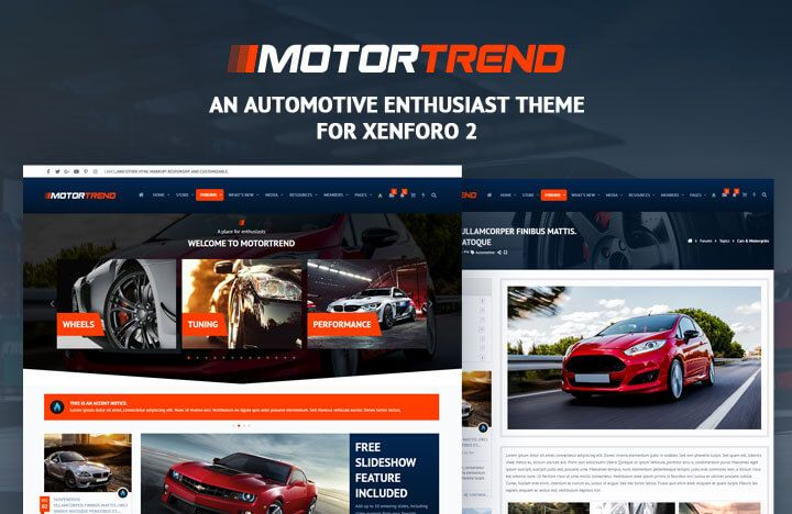 A feature rich automotive, car & motorcycle enthusiast theme for Xenforo 2