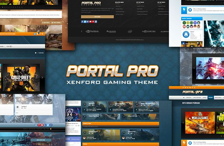 A bold portal inspired theme with powerful features and four presets