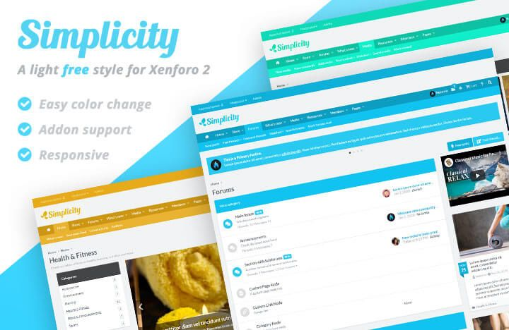 A crisp, beautiful free light style for Xenforo forum. Features full width mode, addon support, and easy color change