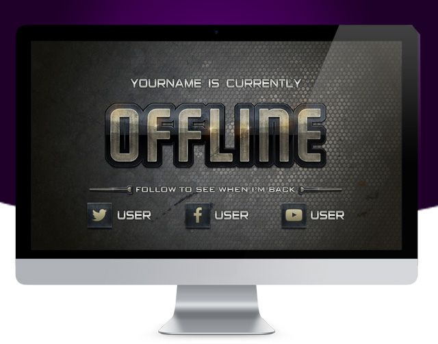 A bold graphical offline banner kit for your Twitch stream