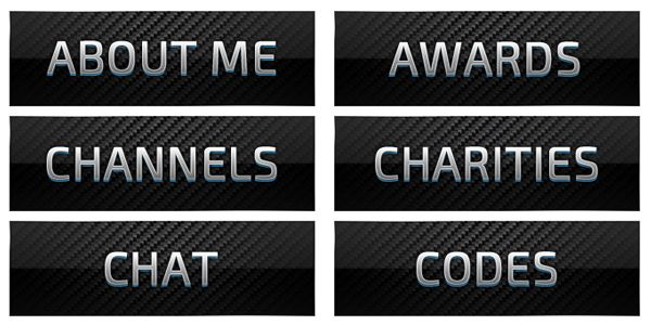 A sleek dark customizable set of Twitch banners for your profile