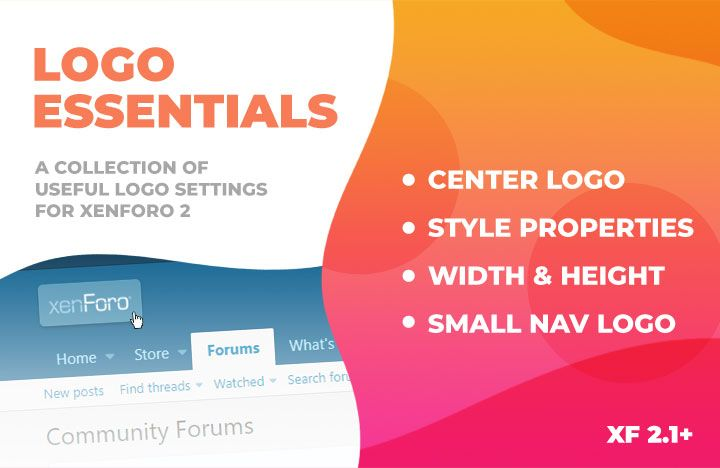 Center your logo, specify navigation small logo URL, set size dimensions and more!