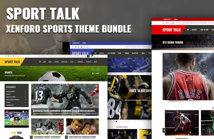 A feature packed sporting theme bundle for Xenforo 2 forum