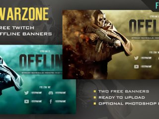COD Warzone - Ghost Free Twitch Offline Banner With Photoshop Kit