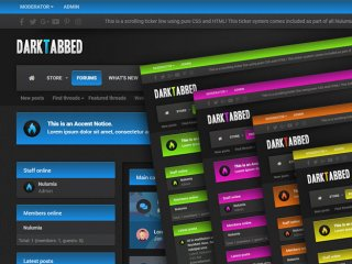 DarkTabbed - Dark Responsive Xenforo 2 Theme