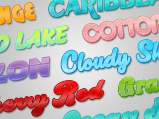 Glossy Plastic Photoshop Text Layer Styles Pack