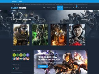 Sleek - Flat Responsive Gaming Theme