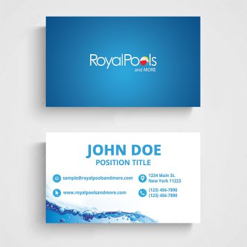 Royal Pools & More Business Cards | V1