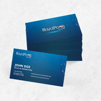 Royal Pools & More Business Cards | V3