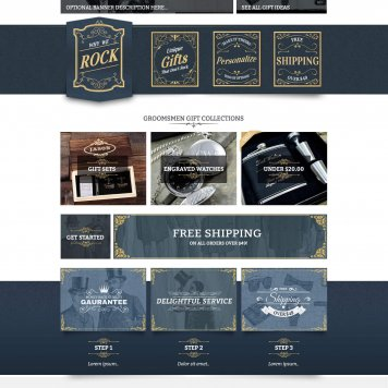 Groomsday.com Wedding Gifts Ecommerce Layout V1