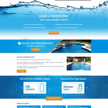 Royal Pools & More - Hubspot Website