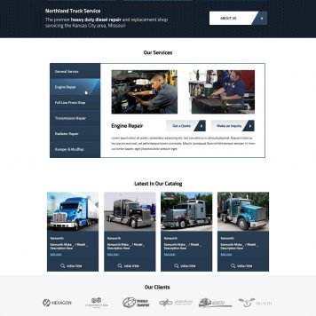 Northland Truck Repair Wordpress Theme