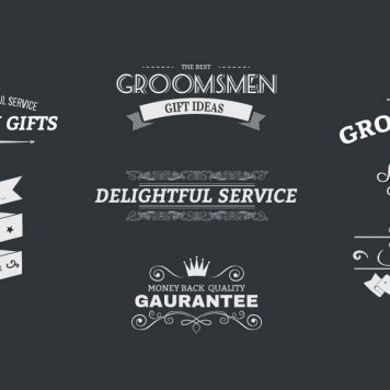 Groomsday Retro Branding Badges