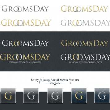 Groomsday Vintage Logo Concepts